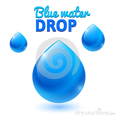 Free Vector Blue Water Drops Royalty Free Stock Photos - 42777378