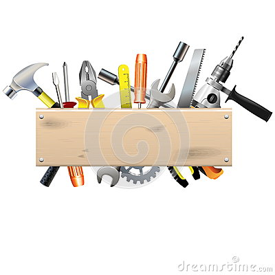 Free Vector Board With Tools Royalty Free Stock Photography - 39119367