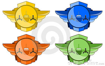 Vector Bomber in Wings and Circle Emblem