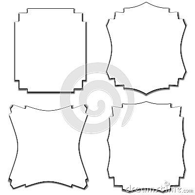 Vector Border Frames Set