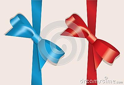 vector bows and ribbons
