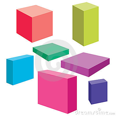 Free Vector Boxes Royalty Free Stock Images - 9849219