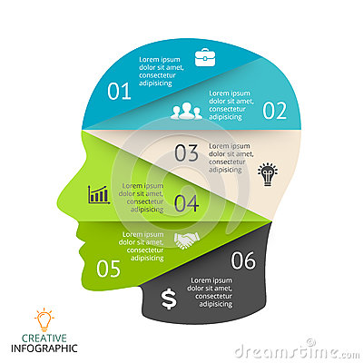 Vector Brain Infographic. Template For Human Head Diagram ...