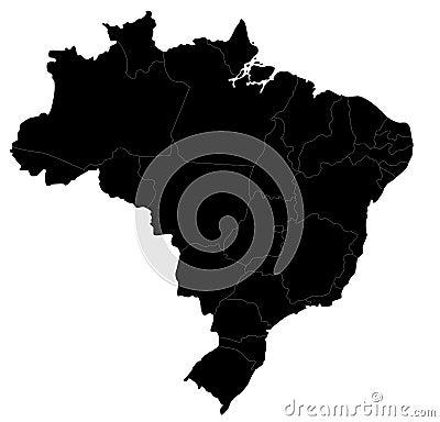 Vector Brazil map