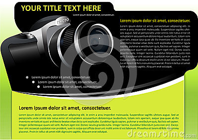Vector brochure background with camera