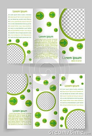 Vector brochure template design with green element
