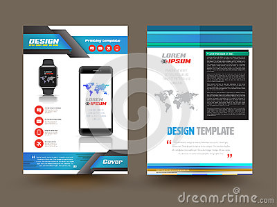 Vector Brochure Template Design For Technology Product – Technology Brochure Template