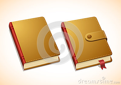 Vector brown notebook