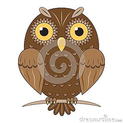 Vector brown owl