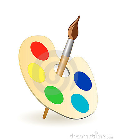 Free Vector Brush Palette Royalty Free Stock Photography - 6816667
