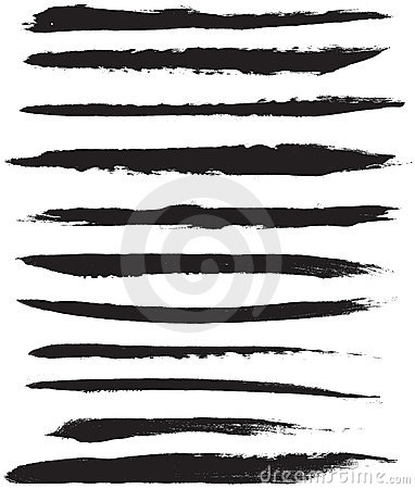Free Vector Brush Strokes Royalty Free Stock Images - 19519049