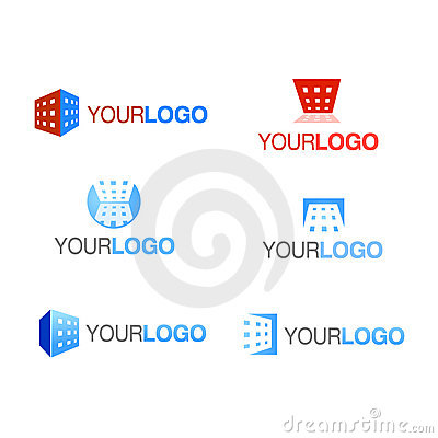 Vector building company logo set
