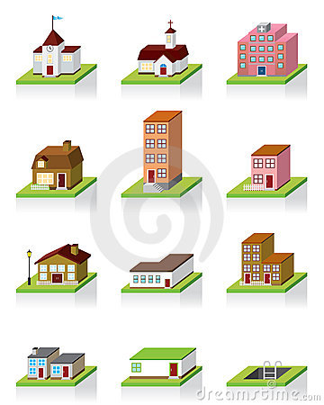 Free Vector Building Icon -- 3D Illustration Stock Photos - 12938343