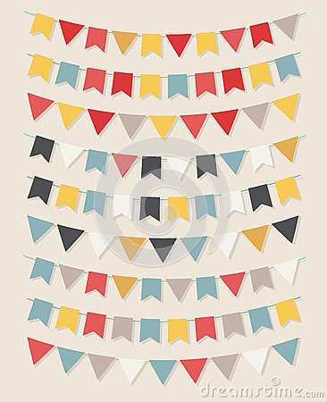 Free Vector Bunting Party Flags Stock Photography - 41857082