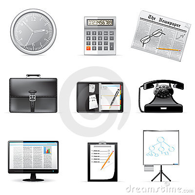 Free Vector Business And Office Icons Stock Image - 13226891