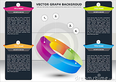 Vector business background with sectional chart