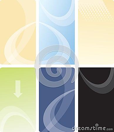 Vector business card template design