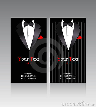 Free Vector Business Cards With Elegant Suits Stock Photo - 15409140