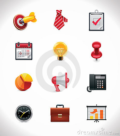 Free Vector Business Icon Set Stock Images - 22300794