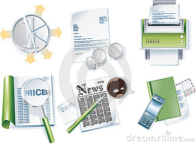 Vector business icon set. Part 1