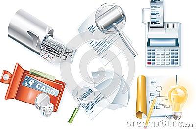 Vector business icon set. Part 3