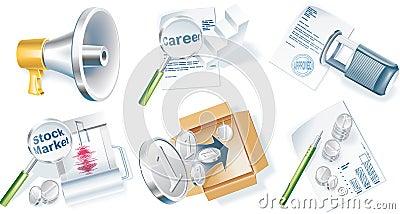 Vector business icon set. Part 4