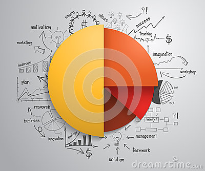 Vector business Infographics circle with drawing c