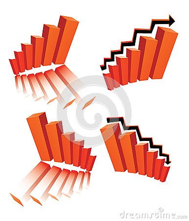 Vector business logos (graphs)