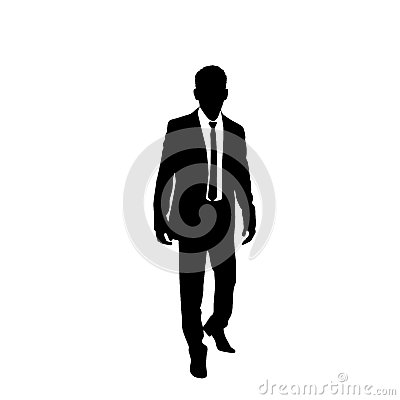 Free Vector Business Man Black Silhouette Walk Step Royalty Free Stock Photo - 46553815