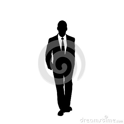 Free Vector Business Man Black Silhouette Walk Step Royalty Free Stock Photos - 46553828