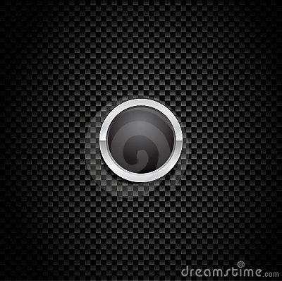 Vector Button on Carbon Fiber Background