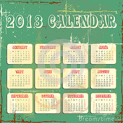 Vector calender for 2013