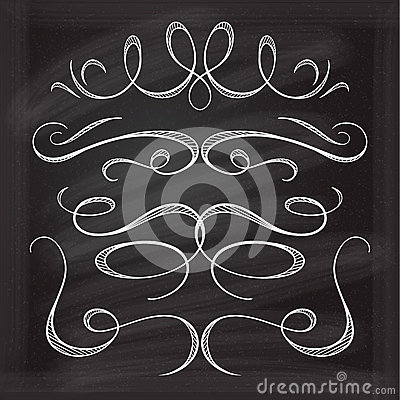 Vector calligraphic design elements. Vector Illustration