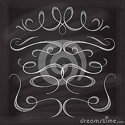 Vector calligraphic design elements. Vector Illustration