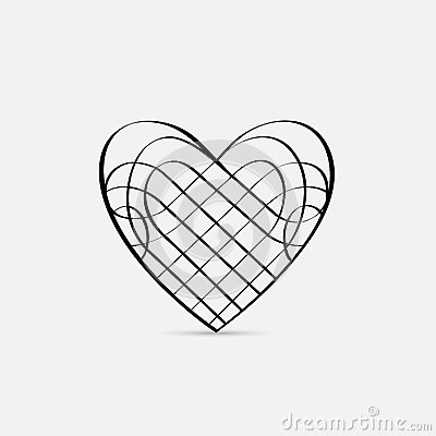 Vector calligraphic Heart