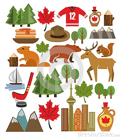 Free Vector Canada Icon Set Stock Images - 36042774
