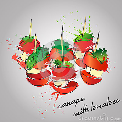 Vector canapes stock illustration image 57470270 for Canape vector download