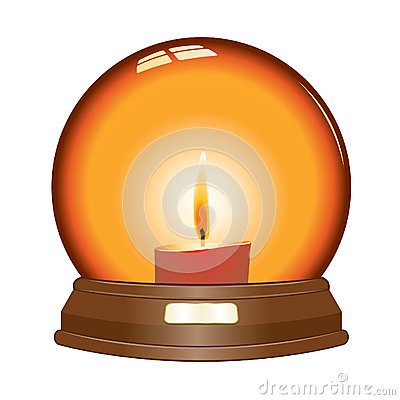 Vector candle globe