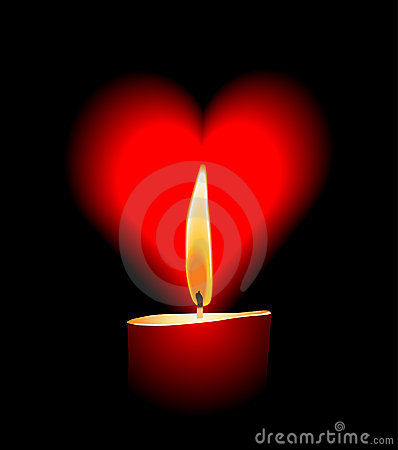 Vector candle love