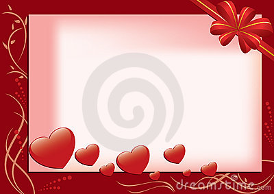 vector card with hearts and flora
