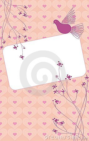 Vector card love and dove