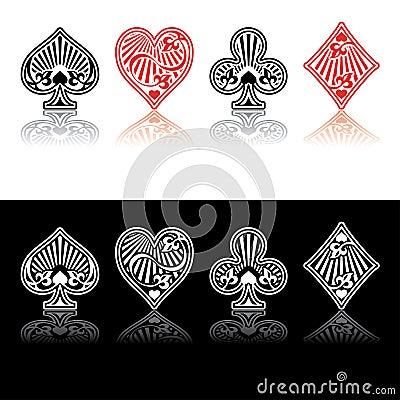 Free Vector Card Symbols Royalty Free Stock Photography - 5250127