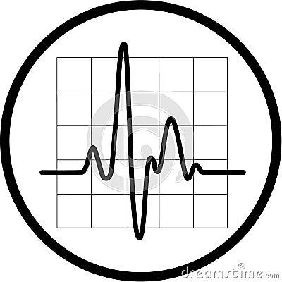 Vector cardiogram icon