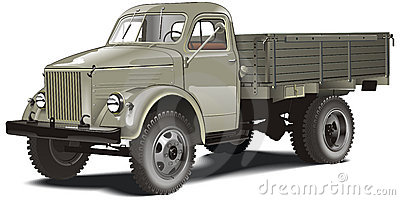 Vector cargo truck isolated