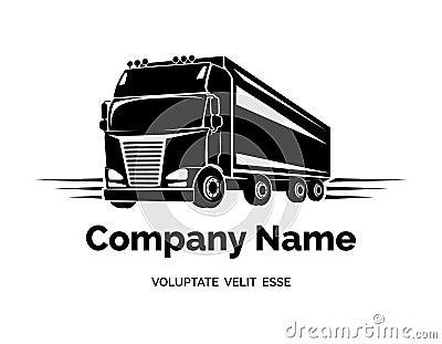 Vector Cargo Truck Logo Stock Vector - Image: 49733604