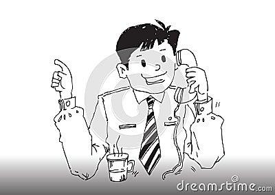 Vector cartoon business man