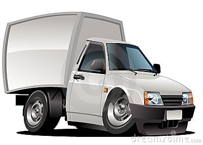 Vector Cartoon Delivery Van Stock Image - Image: 21823181