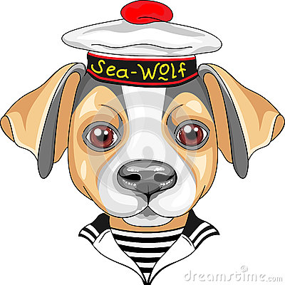 Free Vector Cartoon Dog Jack Russell Terrier Sailor Stock Image - 59901851