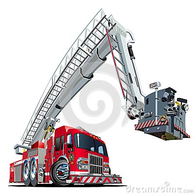 Free Vector Cartoon Fire Truck Royalty Free Stock Image - 29874396