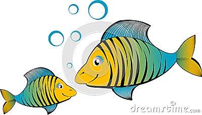 Vector cartoon fish